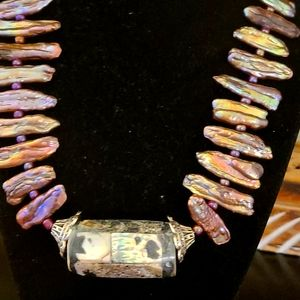 HOST PICK  PEARL/ABALONE NECKLACE